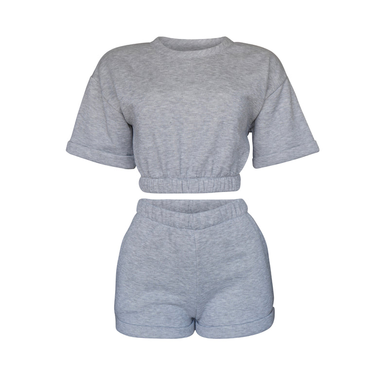 Playsuit Top In Heather Gray [PRE-ORDER]