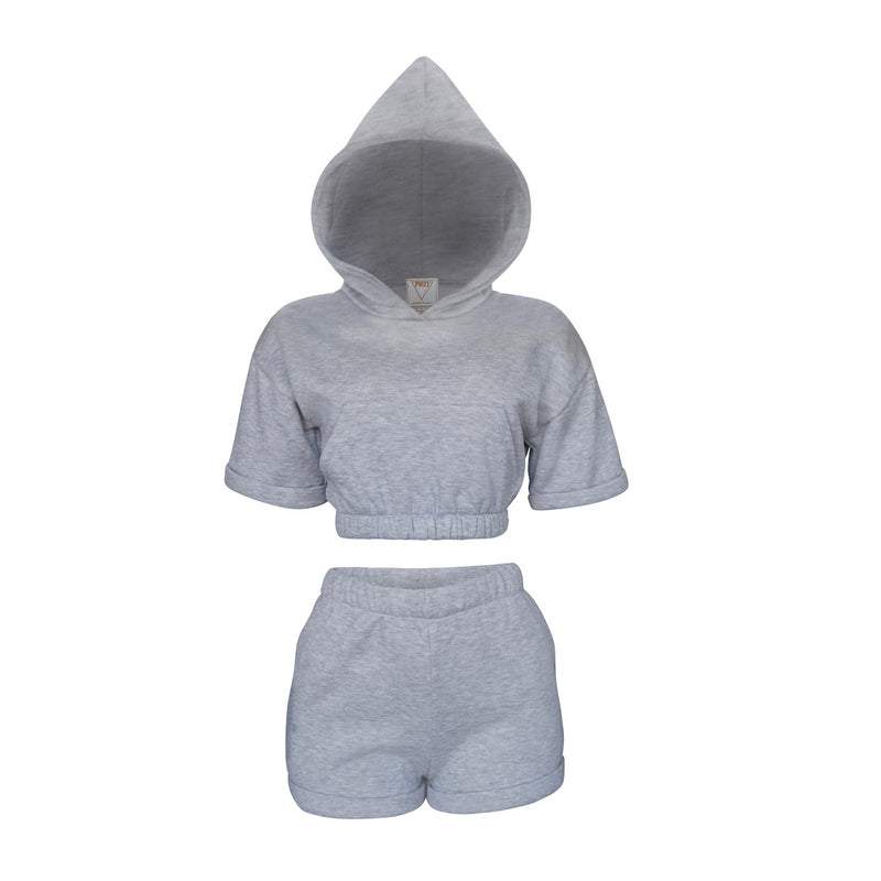 Playsuit ll Top In Heather Gray [PRE-ORDER]