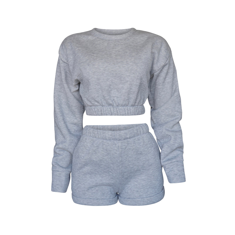 Playsuit III Top In Heather Gray [PRE- ORDER}