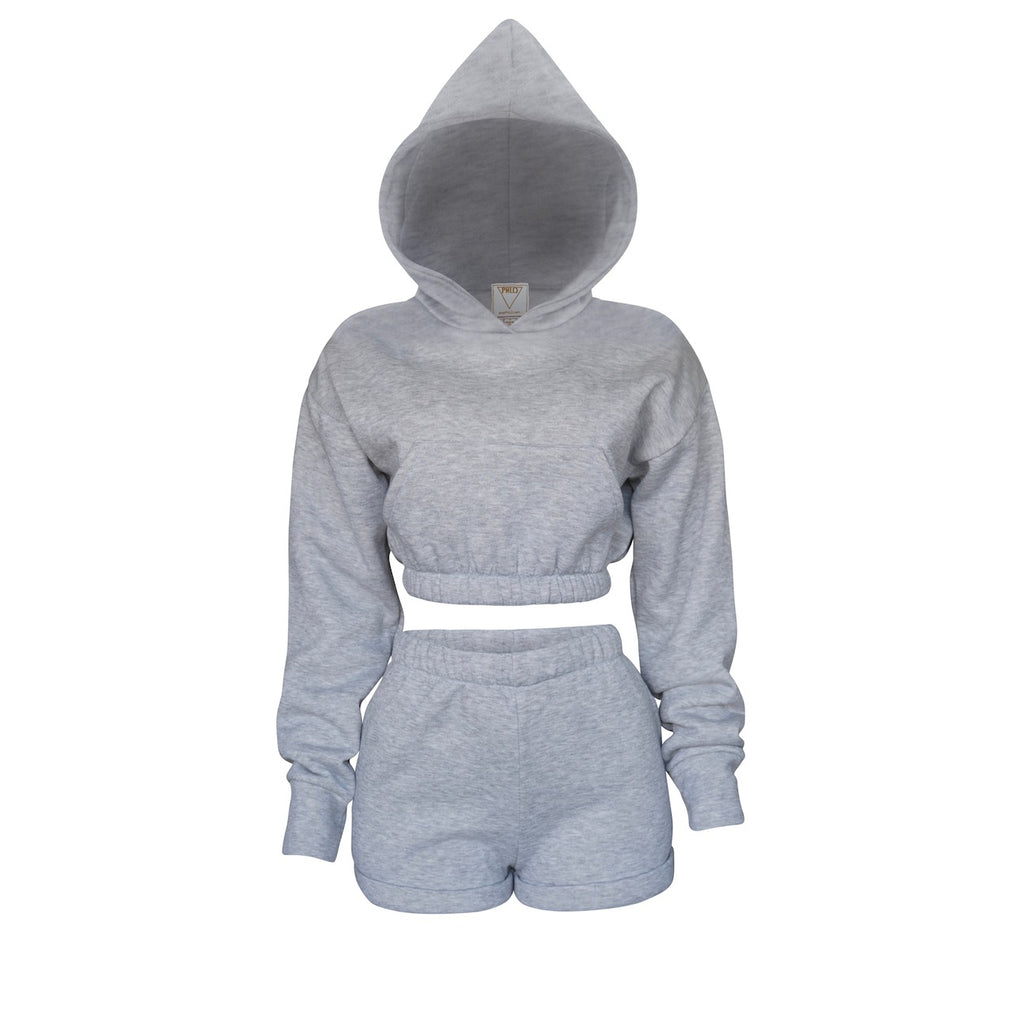 Playsuit IV Set In Heather Gray [PRE-ORDER]