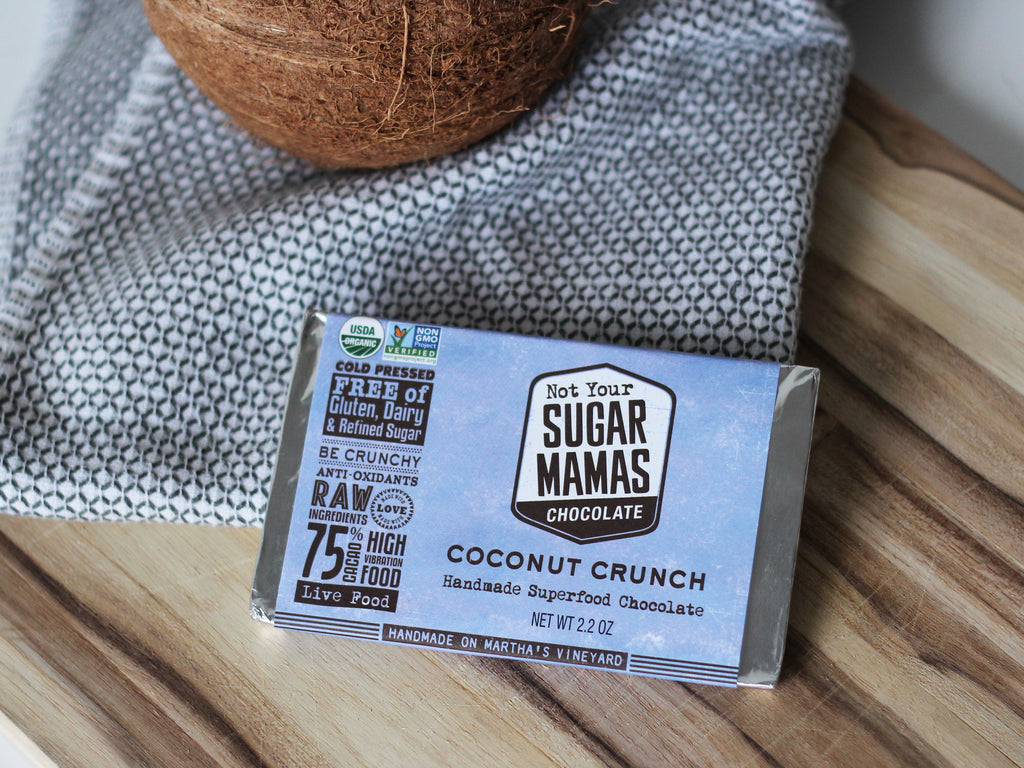 Coconut Crunch Chocolate Bar | Not Your Sugar Mamas
