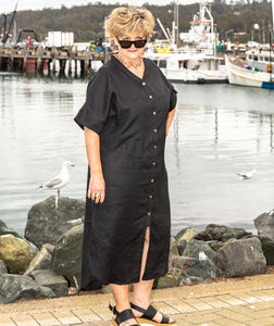 Shirt -  Beach Dress with Collar
