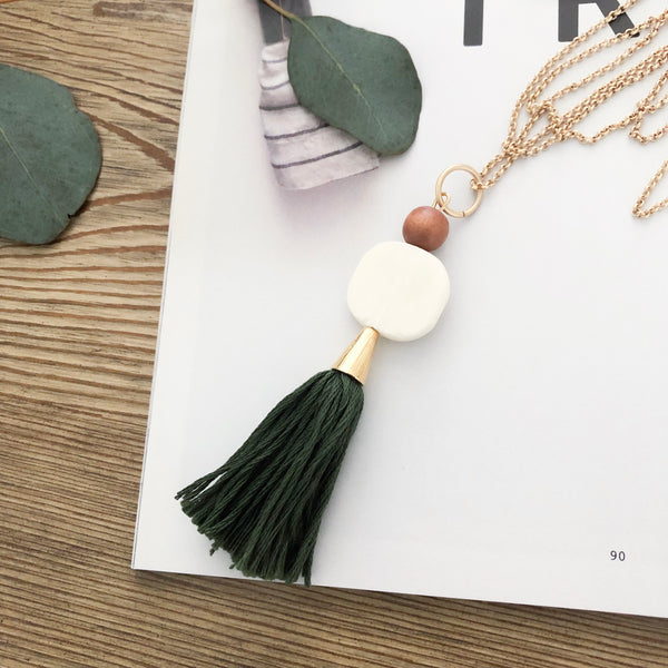 Lucia Tassel Necklace