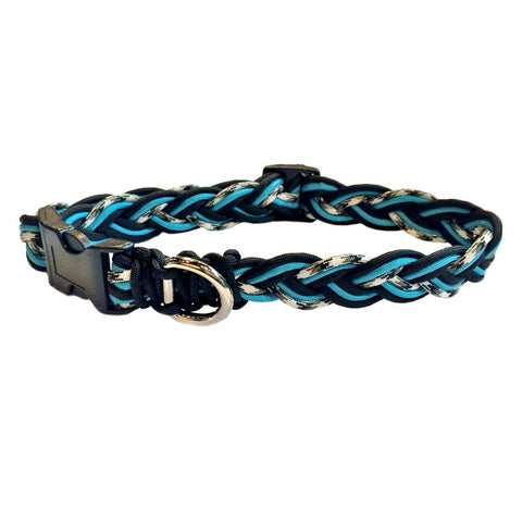 Aqua Paracord Collar & Leash