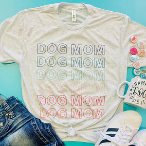 Rainbow Dog Mom Tee