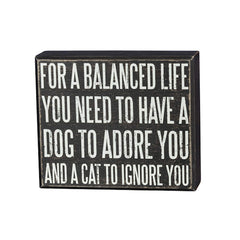 For A Balanced Life Sign