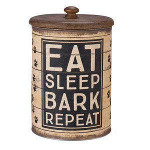Eat, Sleep, Bark Treat Canister