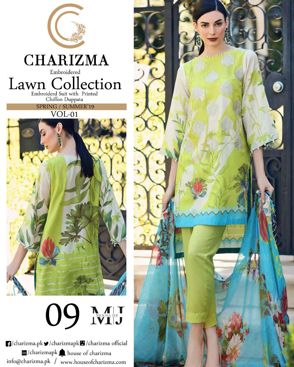 b715b72dff Charizma Lawn Collection 3 – Adi Luxury Collection