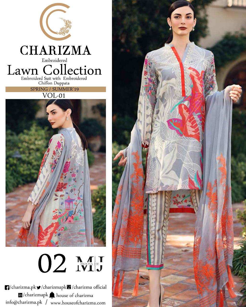 265e75841e Charizma Lawn Collection 6 – Adi Luxury Collection
