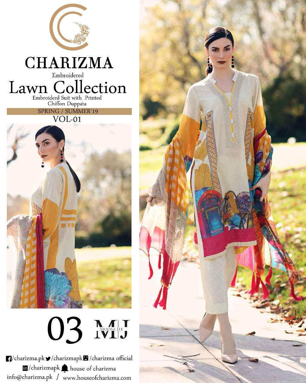 8e58f8ef97 Charizma Lawn Collection 7 – Adi Luxury Collection