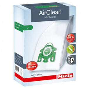 Miele AirClean 3D Efficiency Filter Bags Type U ·  4 Pack
