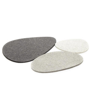 Graf Lantz Felt Trivet Stone Medium in Charcoal