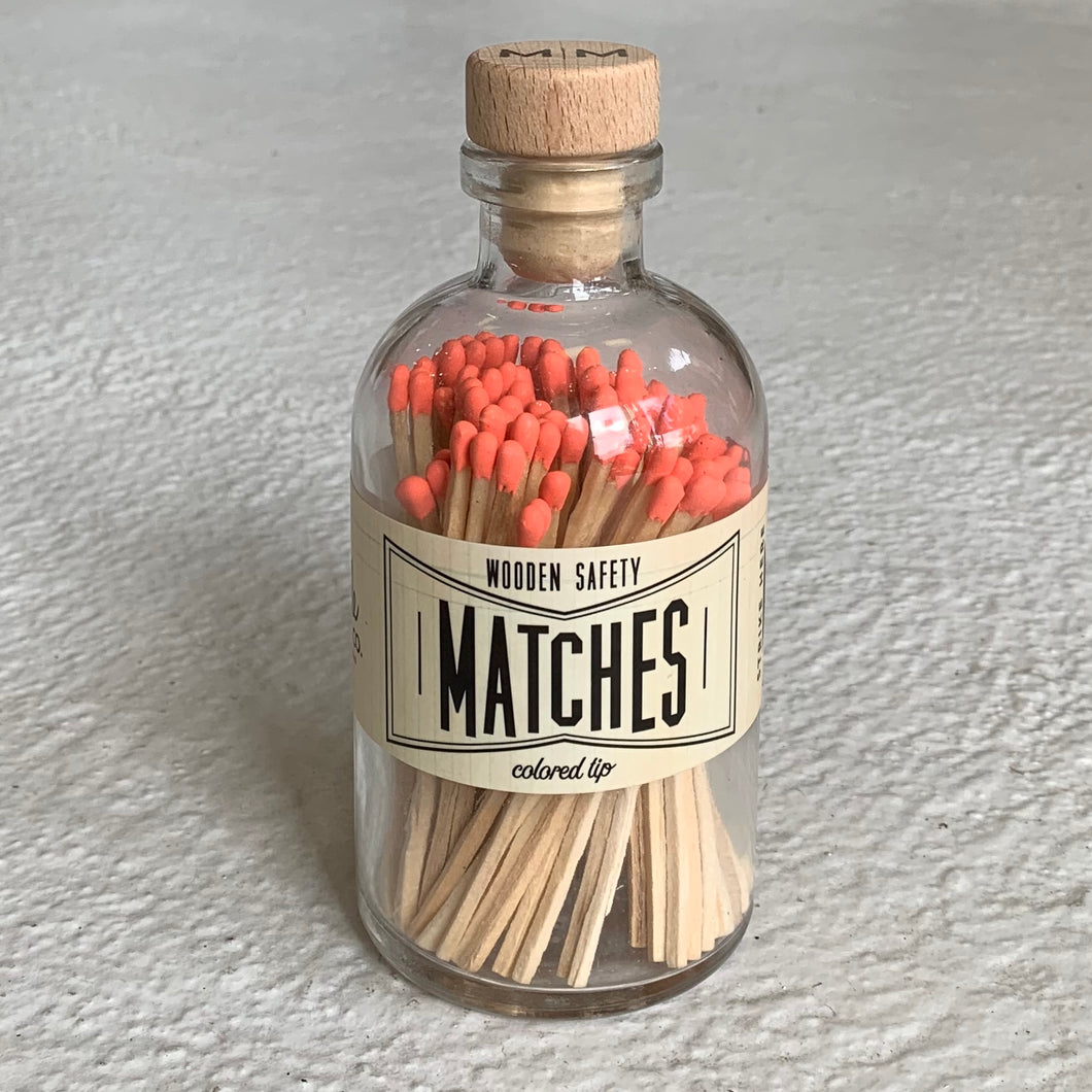 Made Market Co Apothecary Matches in Coral