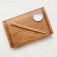 Load image into Gallery viewer, CVACHI Handcrafted Sushi Board in Red Oak