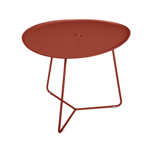 Fermob COCOTTE Low Table with Removable Tray in Red Ochre