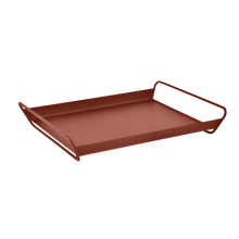 Load image into Gallery viewer, Fermob ALTO Metal Tray in Red Ochre