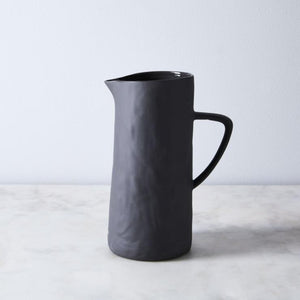 BeHome Stoneware Pitcher in Charcoal
