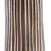 Load image into Gallery viewer, Modern Ceramic Tall Flute Vase in Coffee Stripe