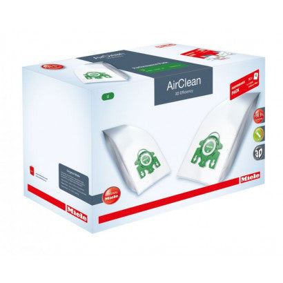Miele AirClean 3D Efficiency Filter Bags Type U ·  Performance Pack 16 Pack with SF-HA30 HEPA Filter