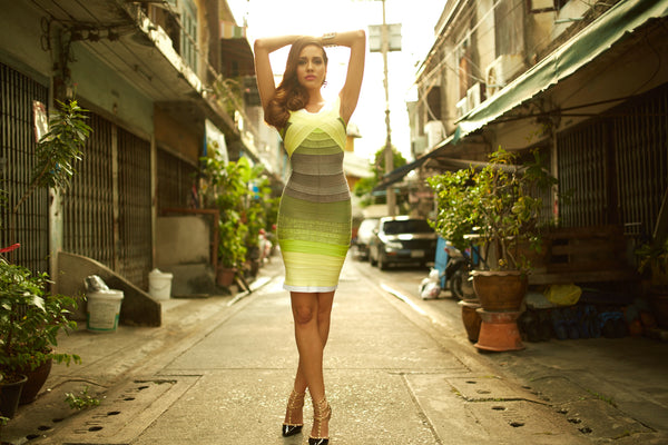 bandage dresses made from rayon