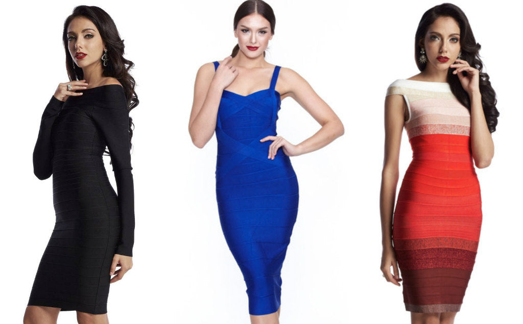 bodycon v bandage dress