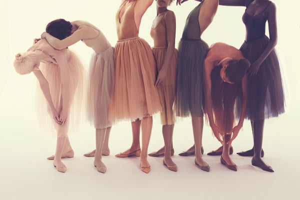 Christian Louboutin nude ballet shoes