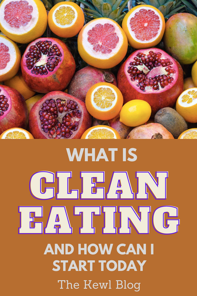 Pinterest banner - What is clean eating