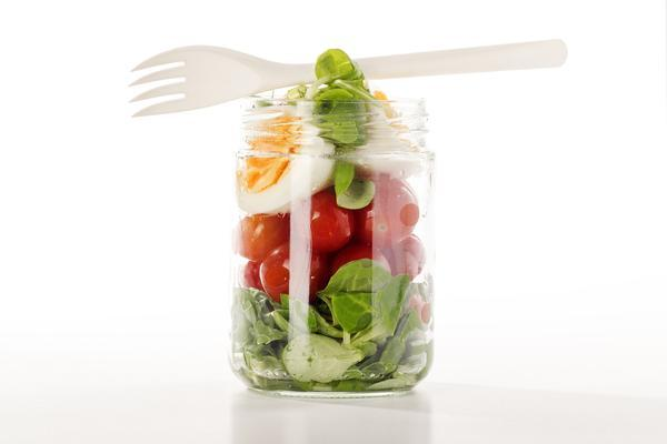 glass container full of healthy breakfast