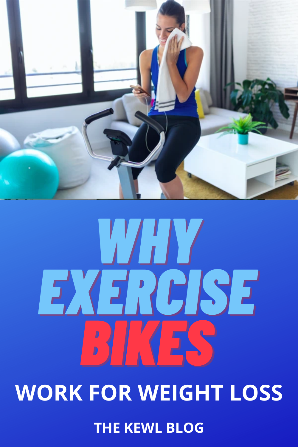 Pinterest pin - Exercise bikes for weight loss