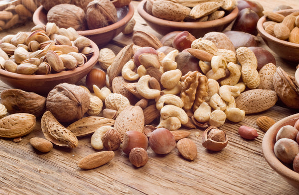 variety of raw nuts