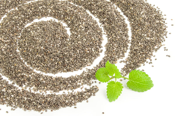pile of chia seeds