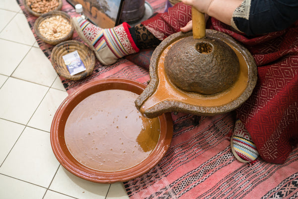 making argan and olive oils