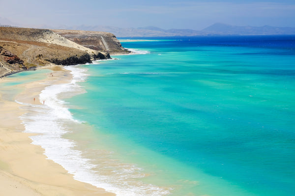 Beach with amazing water colors on Fuerteventura, Spain