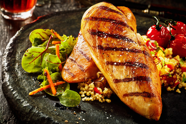 grilled chicken breast and couscous