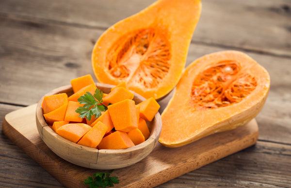 sliced up fresh pumpkin