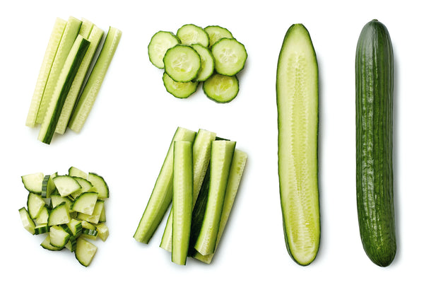 sliced up cucumbers