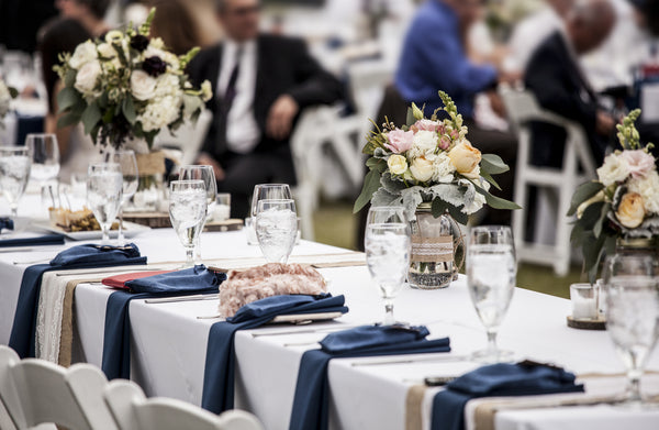 wedding table set up without alcohol