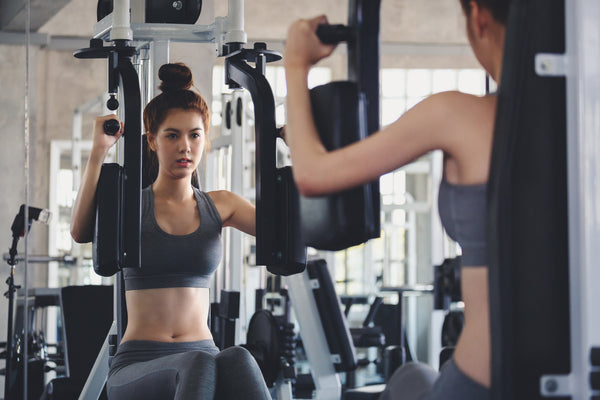 Fitness woman doing exercise in gym