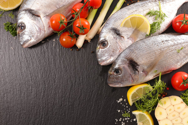 raw fish and ingredients