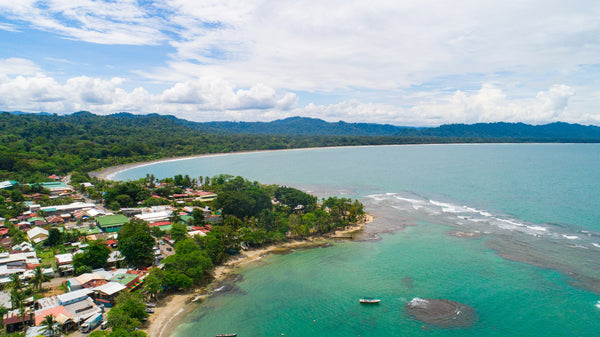 Aerial View from Puerto Viejo in Costa Rica
