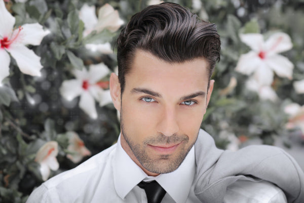 male model in shirt and tie
