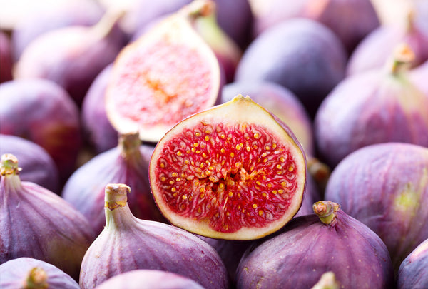 close up of fresh figs