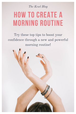 Pinterest banner - how to create a morning routine