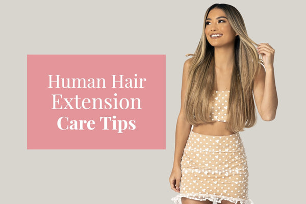 Caring for human hair extensions