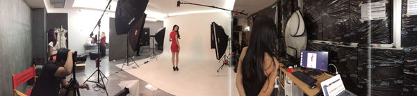 behind scenes fashion shoot