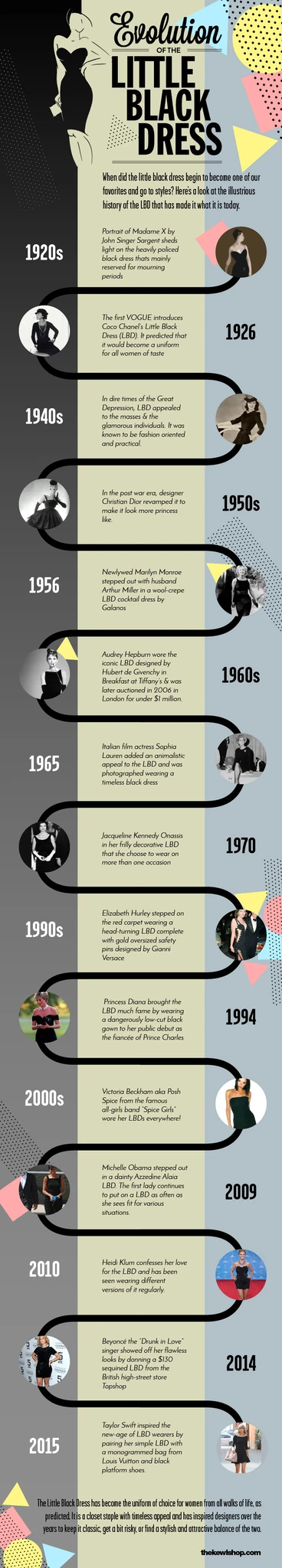 Infographic - Evolution of little black dresses