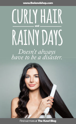 Pinterest banner & Infographic, Curly hair and rainy days does not always have to be a disaster