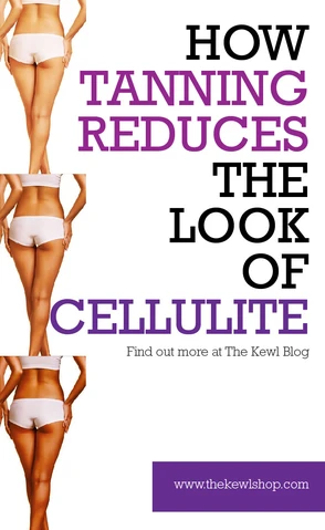 Pinterest banner - How tanning reduces the look of cellulite