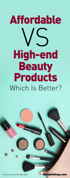 Affordable Versus High-End Beauty Products - Which Is Better?, Pinterest, infographic