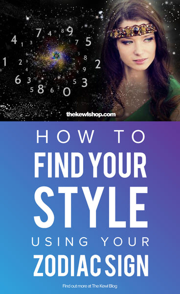 Pinterest and infographic How to find your style using your zodiac sign